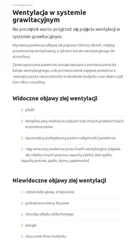 Wentylacja grawiracyjna - opis z bloga
